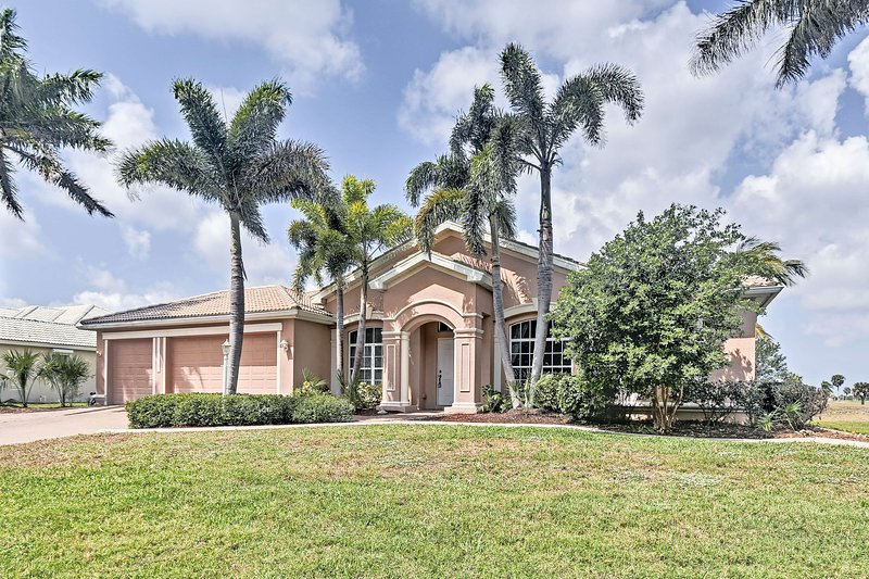 Your Cape Coral paradise awaits at this 4-bedroom, 3-bath vacation rental home!