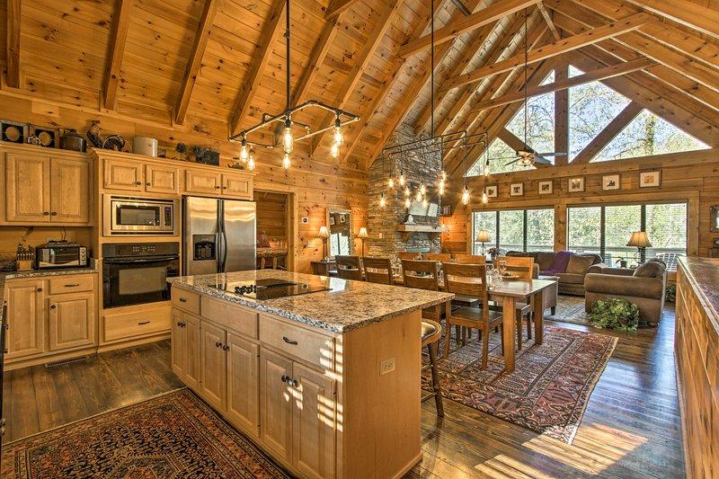 Experimentar Sevierville en el estilo de esta cabina de alquiler de vacaciones de lujo!