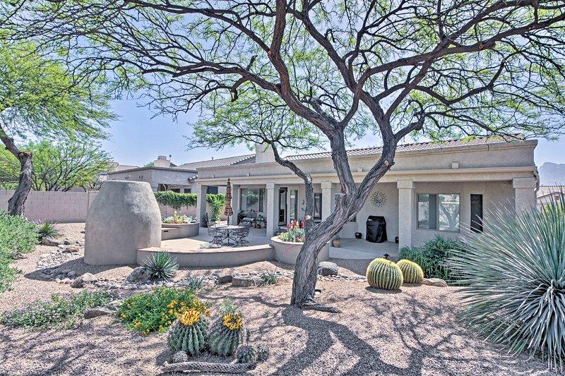Voir la beauté du désert de cette 2 chambres, location vacances maison 2-bain!