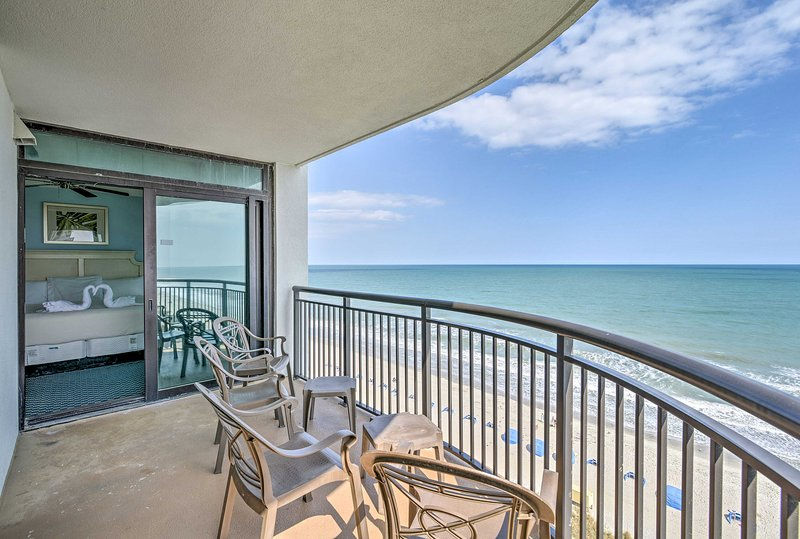 New Myrtle Beach Resort Condo Oceanfront Balcony Updated