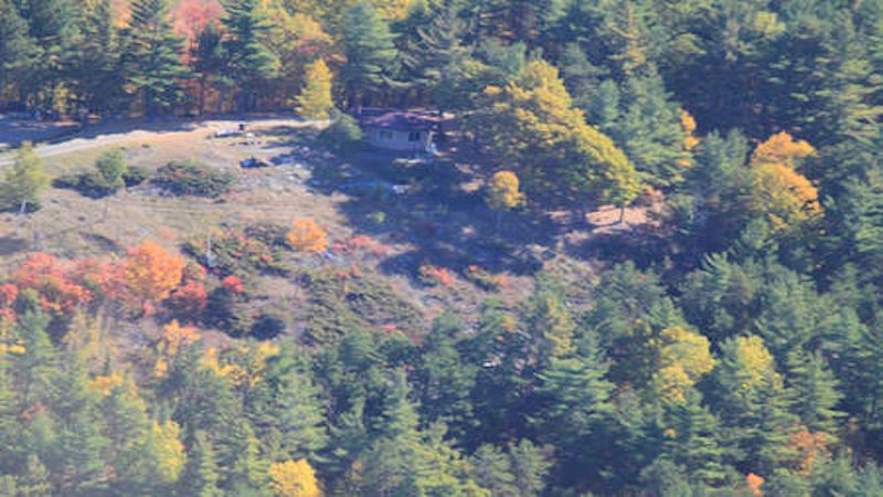 Aerial view of the Studio on ADK Star Ridge part of our 30 acre property