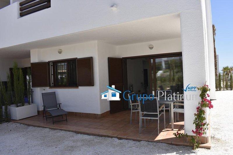 F4100 One bedroom ground floor apartment, holiday rental in El Pozo del Esparto