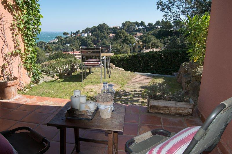 casa adosada con vistas al mar, jardín privado, piscina compartida-SA PUNTA COSTA BRAVA