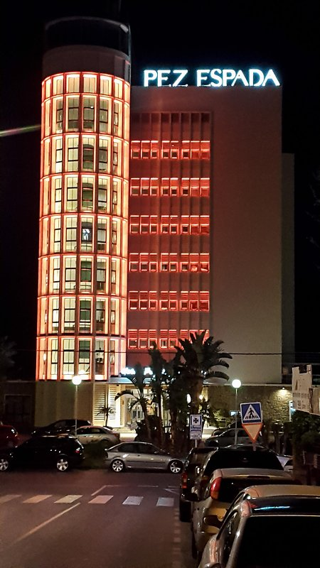 Pez Espada hotel, a traditional landmark in la Carihuela, only 150 Mts away from the apartment.