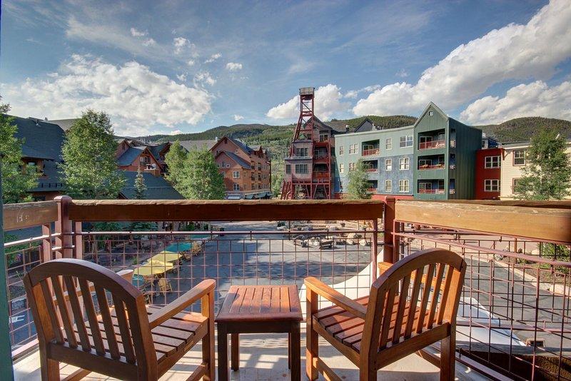Your private deck in River Run Village!