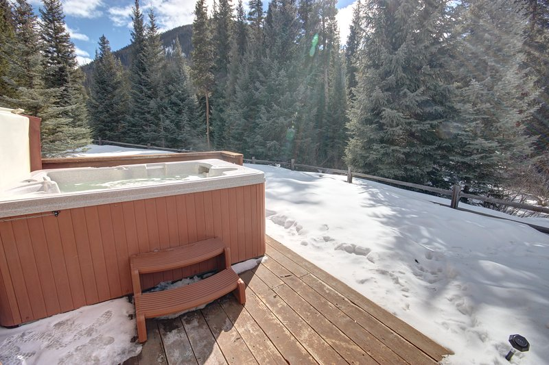 Private hot tub to relax in, after long day of hiking, biking, or hitting the slopes.