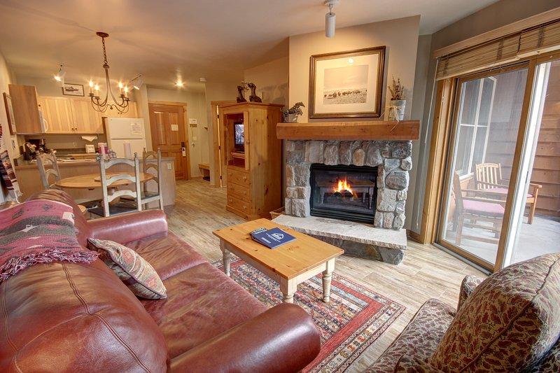 Buffalo Lodge open layout condo.