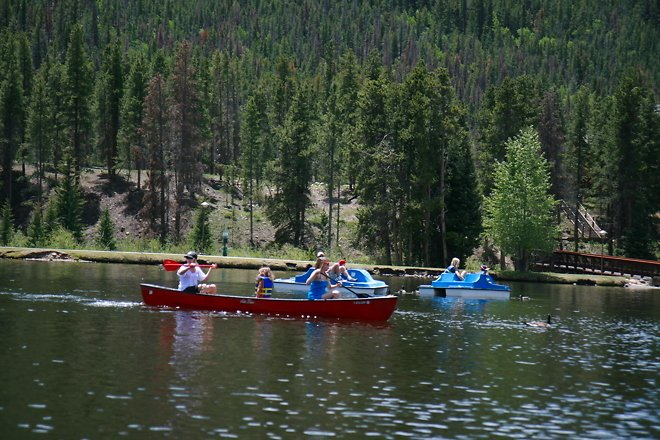 Fun Canoë sur le lac Keystone