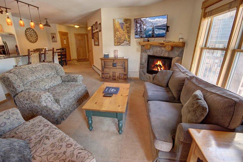 Genießen Sie diese Wohnung mit zwei Schlafzimmern mit einem offenen Layout.