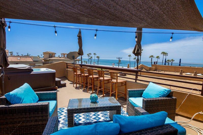 En el tejado, relájate después de un día en la playa