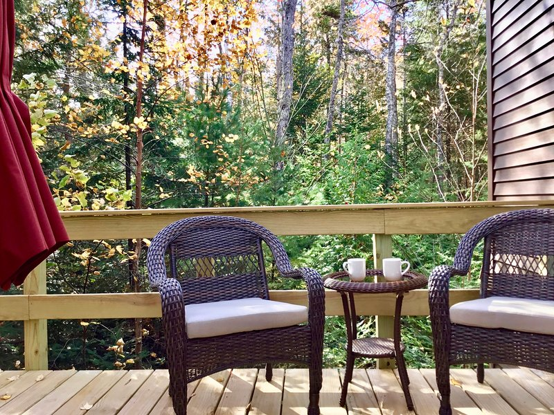 Welcome to the Suite w/its private deck and entrance at Treetop-Retreat.