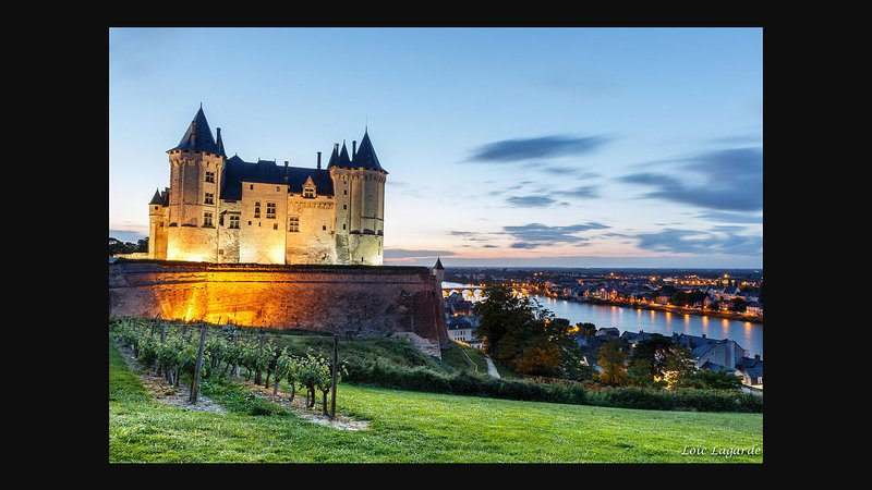 chateau de Saumur 600 meters from the apartment