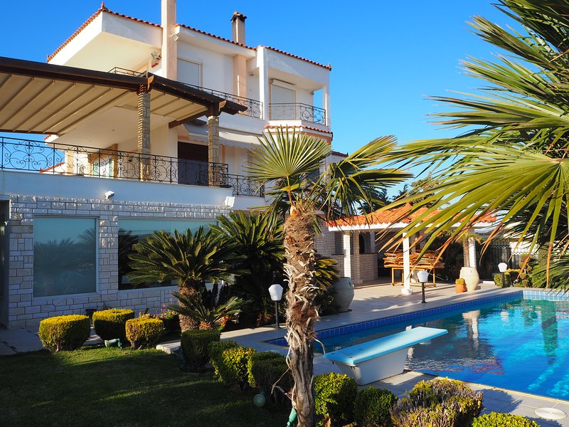 Villa Saronikos, holiday rental in Palaia Fokaia