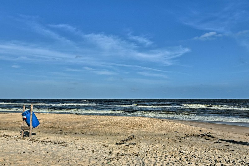 Beach days await you at this Surfside Beach vacation rental house in Texas.