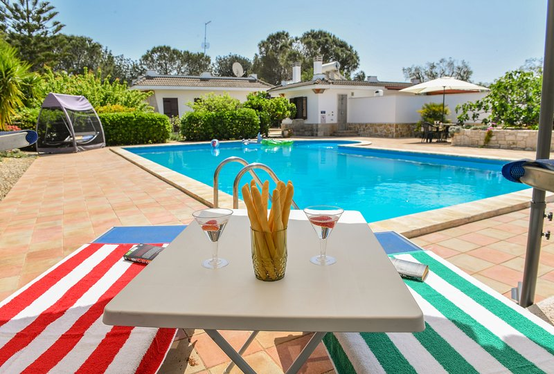 Secluded Villa with PRIVATE POOL in beautiful enclosed estate 10 mins from beach, holiday rental in San Vito dei Normanni