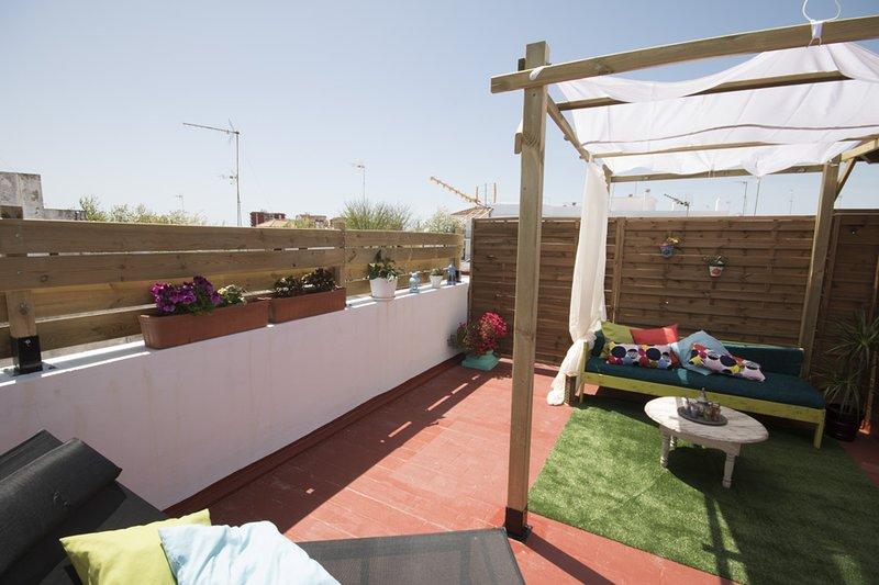 Dúplex/Apartamento con terraza independiente,Wifi,aire acondicionado, alquiler de vacaciones en Chipiona