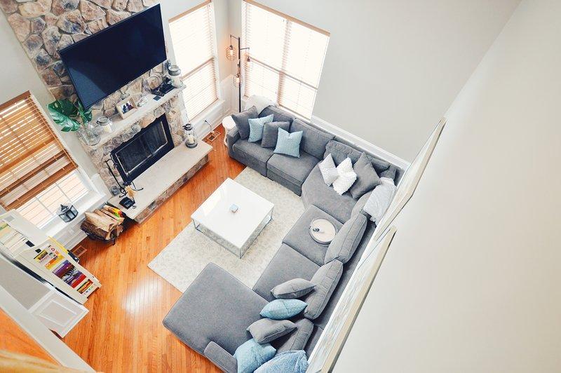 Nossa sala de estar de cima!