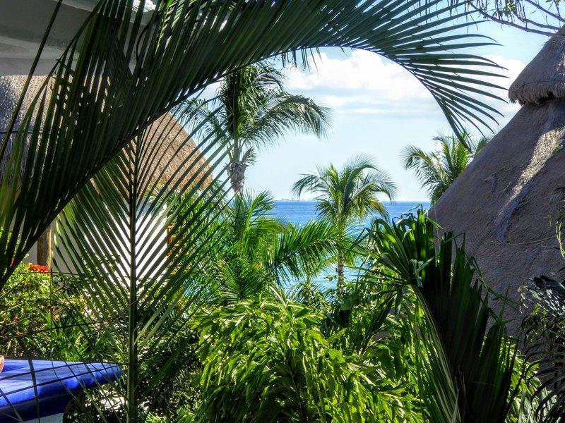 Vista al mar desde su balcón