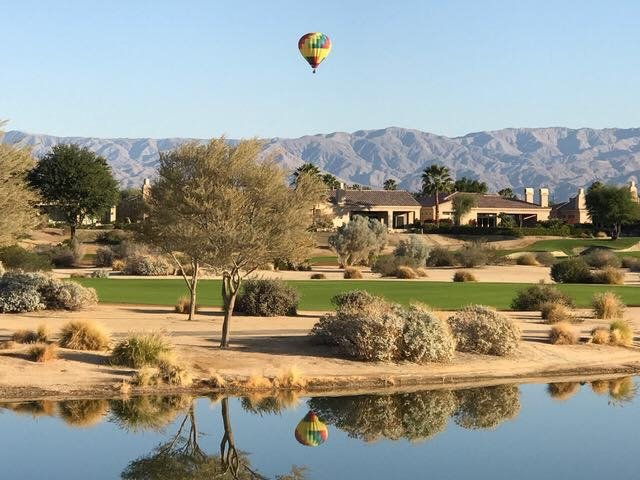 During the early morning hours in the spring, it's common to see hot air balloons over the course.