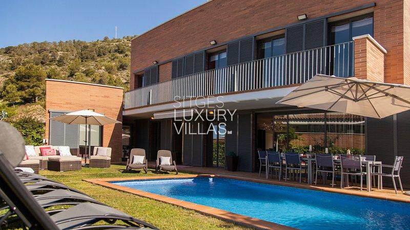 Villa La Gavina, a 4 min. de Sitges, alquiler de vacaciones en Sitges