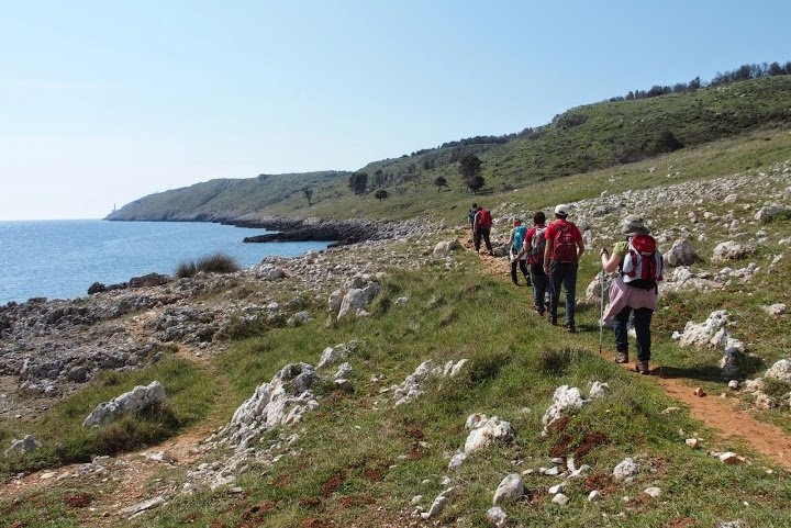 Trekking in the countryside Salentino