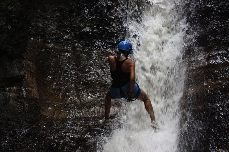 That's me rappelling down the waterfalls with Pure Trek! So fun!