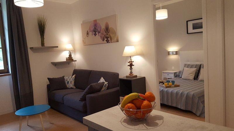 Beau T2 relooké dans la résidence du Grand Hôtel, holiday rental in Guzet Neige