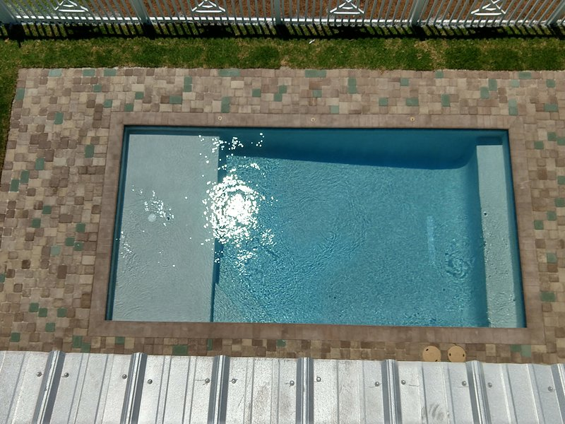 view pool from 2nd floor