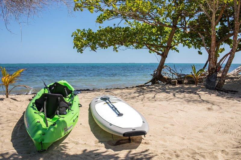 Tandem kayak y tabla de remo