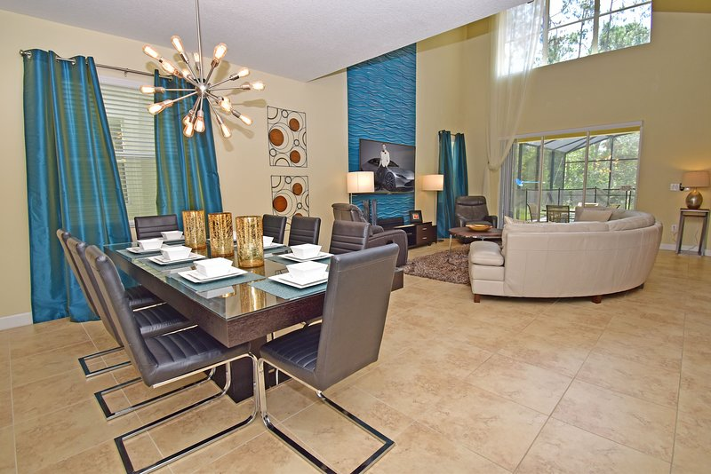 Dining table and lounge