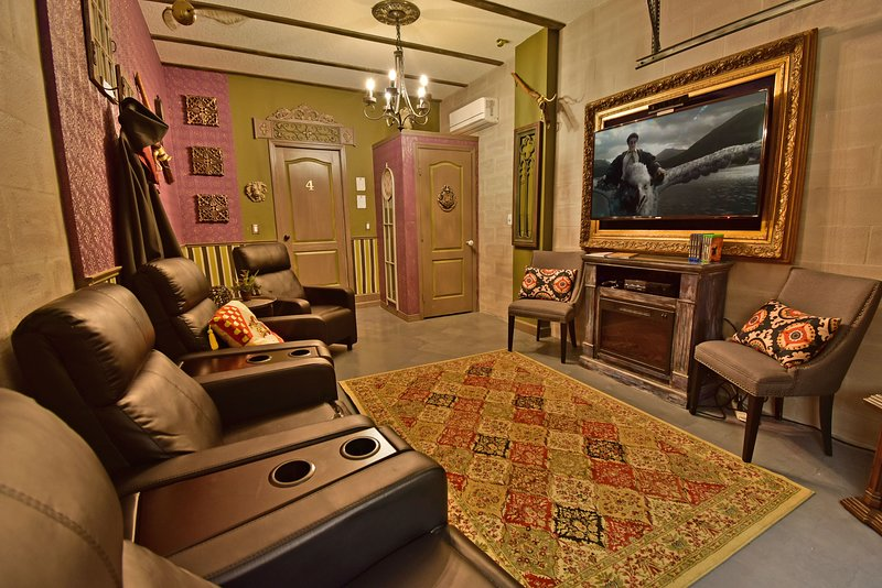 Harry Potter themed movie/gaming room