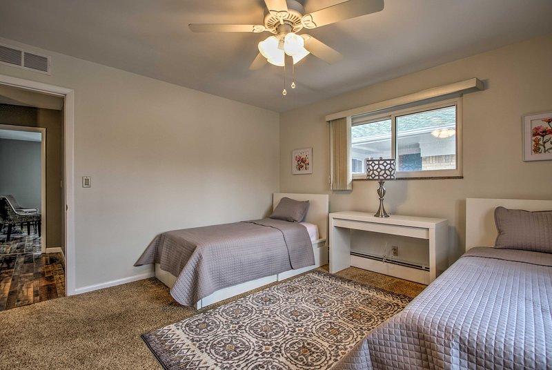 'Serenity' é o quarto de dormir perfeito para 2 pequenos.