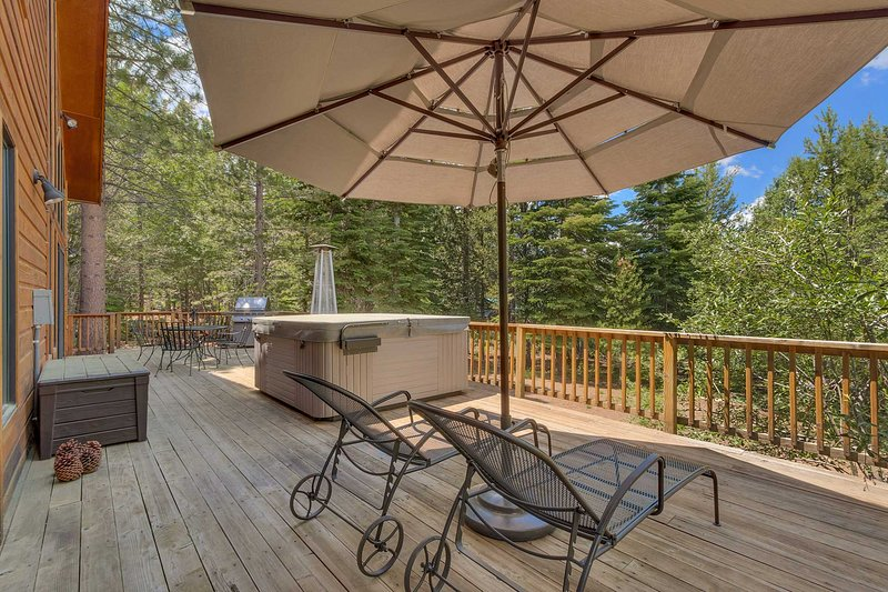 Enjoy the views as you dine al fresco on the spacious furnished deck.