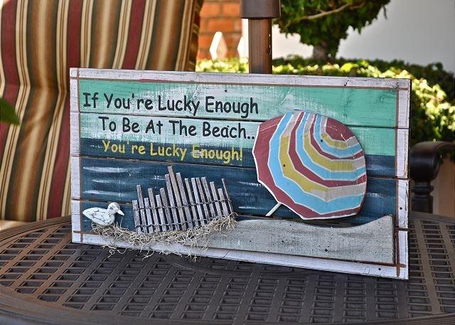 Si tienes la suerte de estar en la playa ...