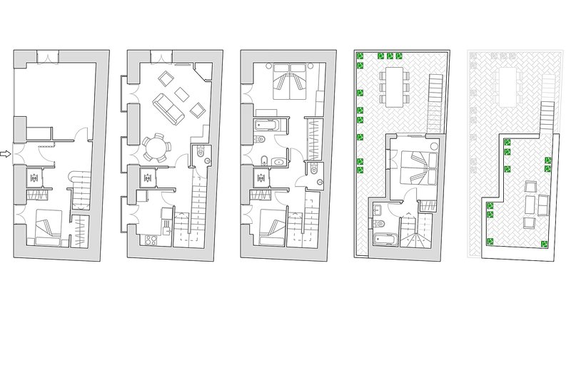 180m² + 2 terraces | elevator up to the second floor