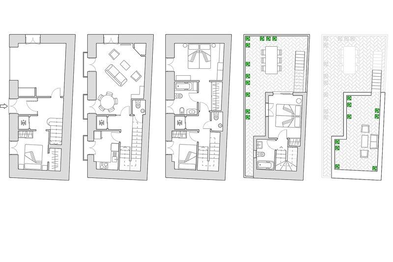 180m² + 2 terrasser | hissen upp till andra våningen