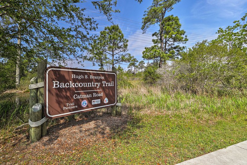 See the butterfly garden at The Backcountry Trail.