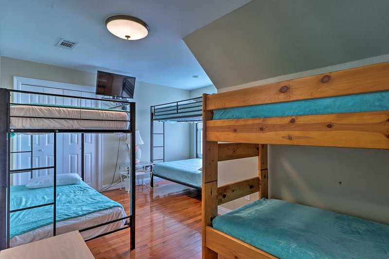 The fourth bedroom is great for kids and teens.