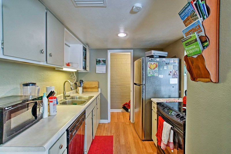 You'll want to put your culinary skills to the test in the fully equipped kitchen.