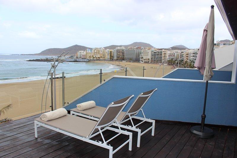 Expectacular Apartamento Primera Línea Playa Las Canteras, alquiler de vacaciones en Las Palmas de Gran Canaria