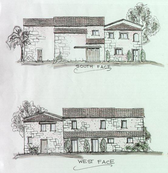 La Collinaccia villa -  Ground Floor - drawnings of the villa