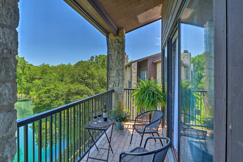 Escape to New Braunfels at this condo across from Schlitterbahn Waterpark!
