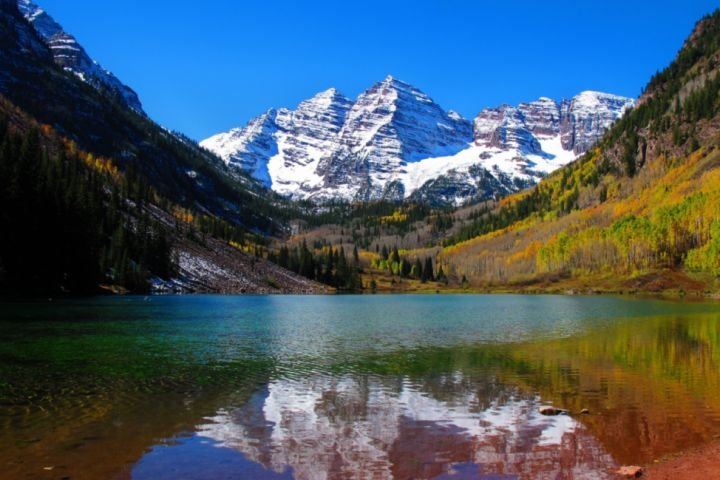 The Maroon Bells Wilderness Area is one of the most photographed areas in North America.  You just might see a moose!