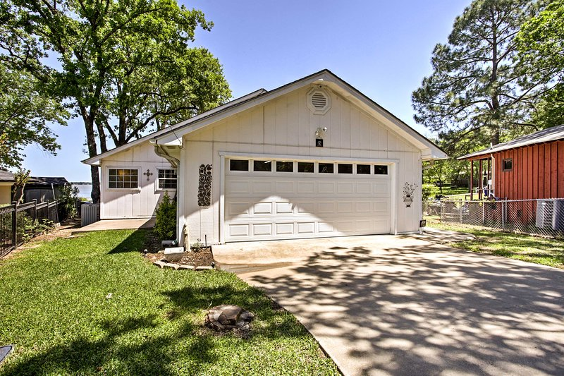 Garage and driveway parking add extra convenience to your stay.