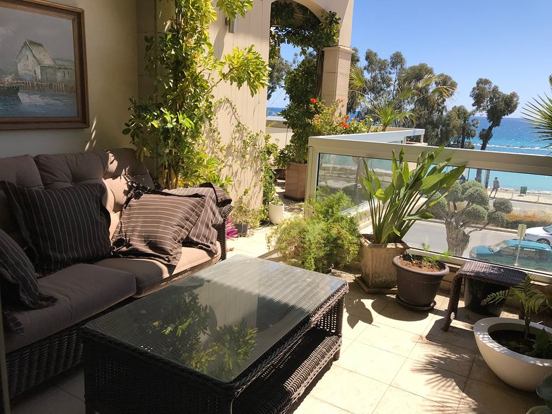 Mesogios 3 br amazing sea view apartment, vacation rental in Germasogeia