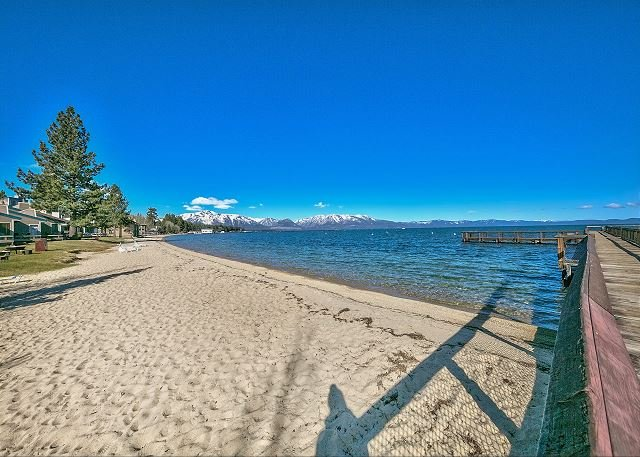 Less than a minute walk to your own private beach