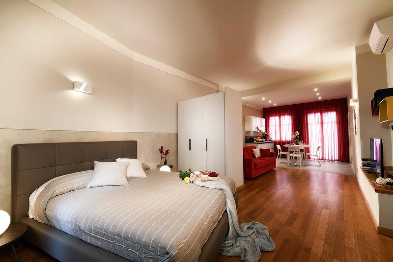 ALBACENTRO, palazzina storica in centro,presenta Altea,comodo loft con giardino, vacation rental in Guarene