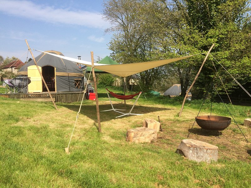 Orchard Yurt and Hypar sail