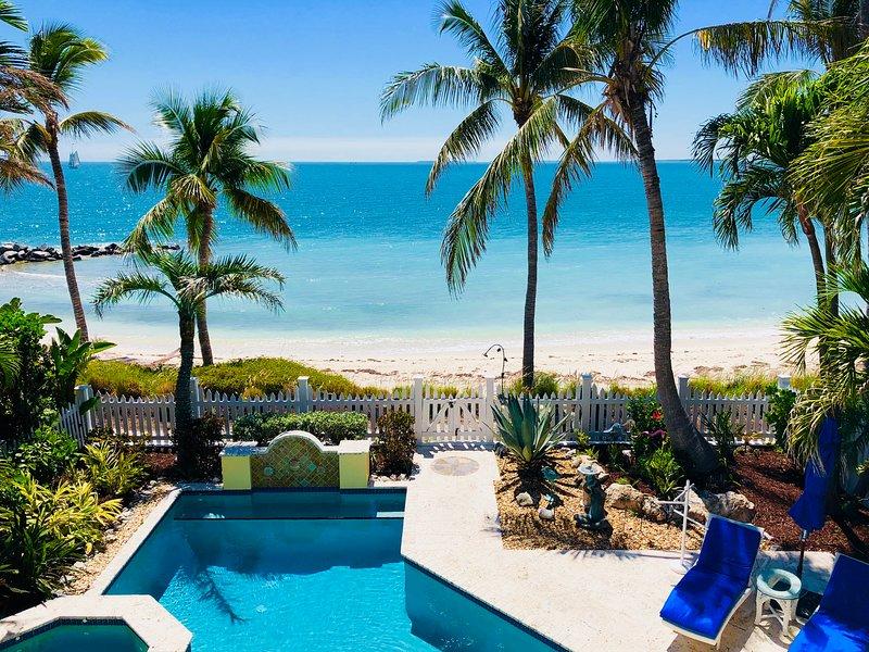 Villa Ambriana has stunning ocean views, picture taken from master bedroom balcony