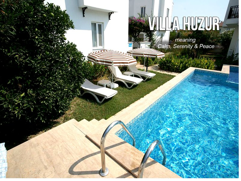 Plenty of areas for sunbathing in the Sun and right outside your front door and pool (shallow &deep)